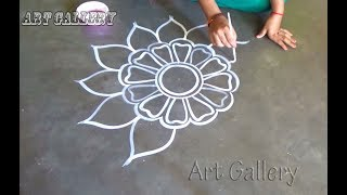 Durga puja special Big Alpana designs by art Gallery/Amazigns Big Rangoli designs