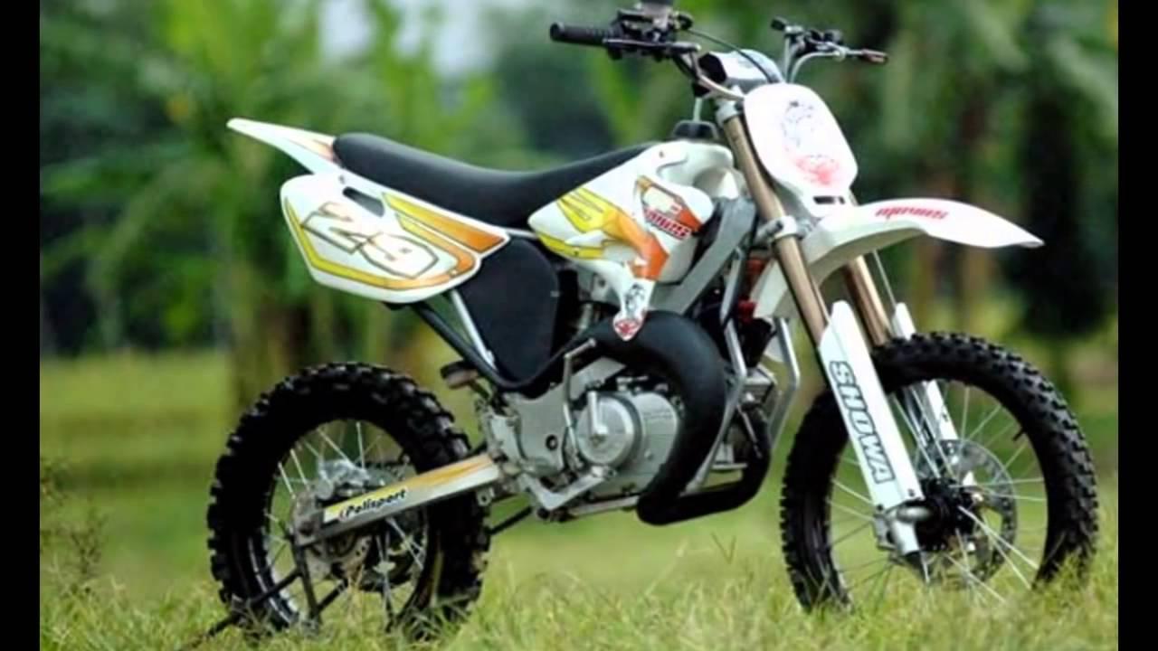 Modif Satria 2 T Jadi Motor Trail Gagah Banget Youtube