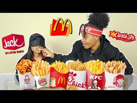 GUESSING FAST FOOD FRIES (BLINDFOLDED)!!!