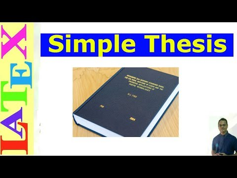 latex thesis tutorial Getting to grips with latex bibliographies with you can split your bibliographies over as many the previous tutorial introduced the idea of embedding.