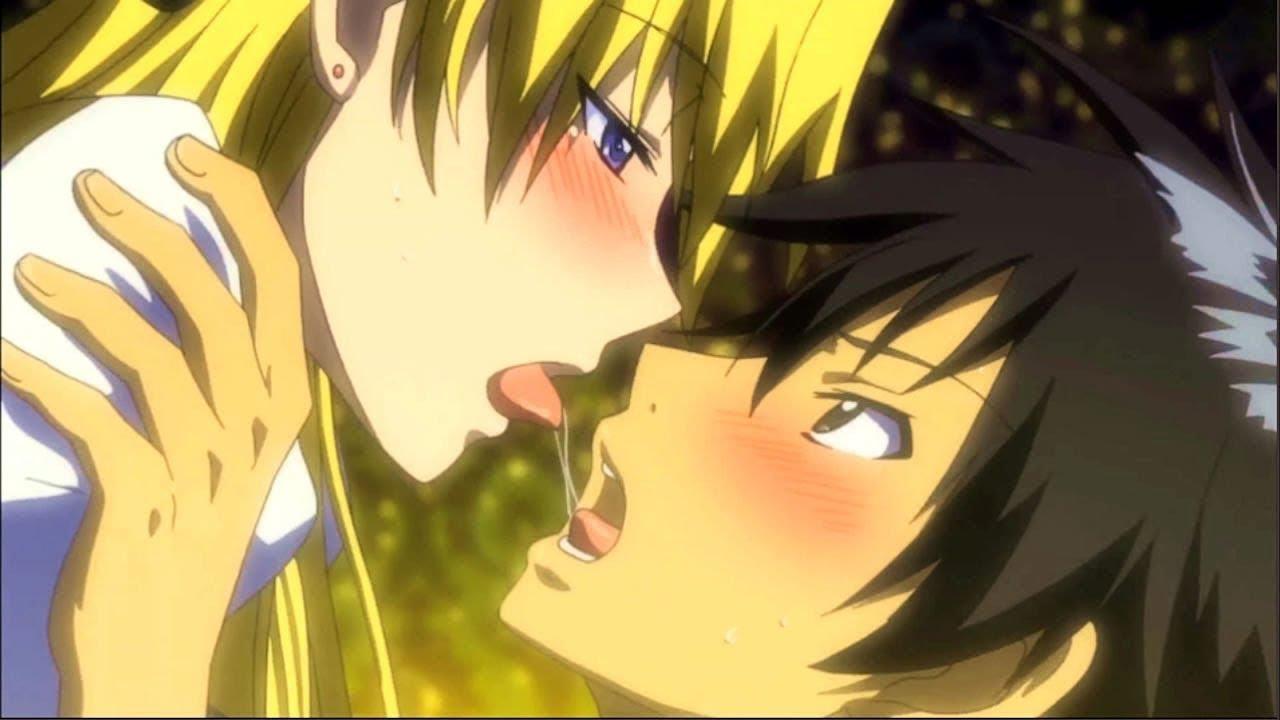 Anime kissing