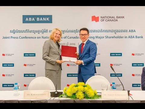 Joint Press conference of ABA Bank and National Bank of Canada (May 9, 2016)