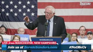 Bernie 2020 Rally in Manchester, New Hampshire