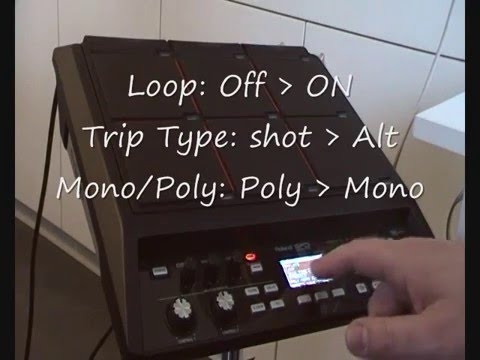 Roland SPD-SX - How to create a loop from MP3 to SPD-SX (FR subtitled EN)