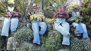 Кашпо для цветов  Идеи для дачи своими руками(Многие дачники не покупают уличные кашпо для цветов,а приспосабливают под кашпо все,что не выброшено еще..., 2016-06-10T09:50:53.000Z)