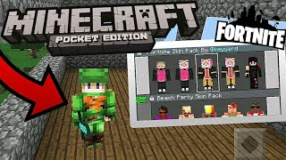 FORTNITE SKINS FOR MINECRAFT POCKET EDITION!!!