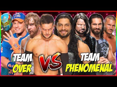 John Cena & Dean Ambrose & Finn Balor & Sin Cara vs AJ Styles & Roman Reigns & Rollins & Randy Orton