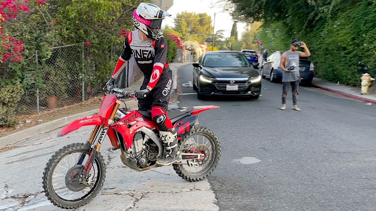 Downtown LA Dirt Bike Jump - Buttery Vlogs Ep102