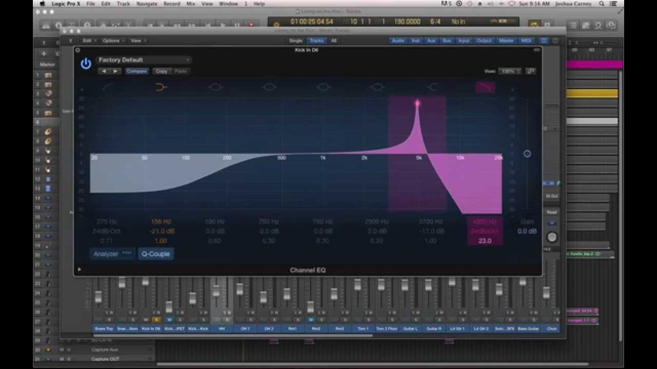 Logic Pro X - #60 - Mixing (part2): Understanding EQ, Channel EQ Plug-in,  EQ'ing Drums