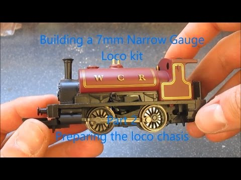 Building a 7mm Narrow Gauge loco kit – pt2 Preparing the loco chasis