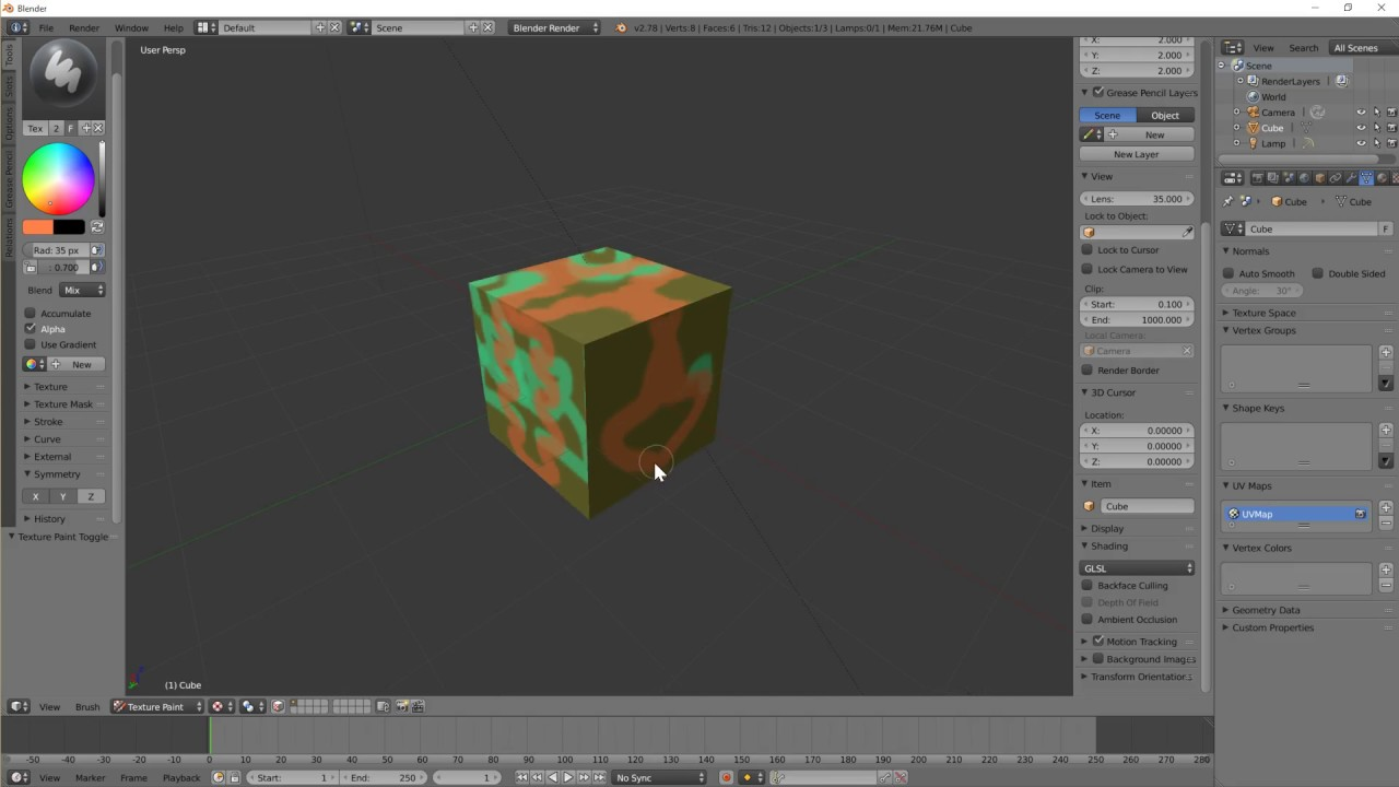 Blender texture paint with layers colour and texture - YouTube