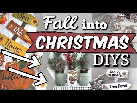 Reuse ALL of your FALL Decor! | Dollar Tree Christmas DIYS 2019 | Krafts by Katelyn