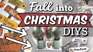 Reuse ALL of your FALL Decor! | Dollar Tree Christmas DIYS 2019 | Krafts by Katelyn
