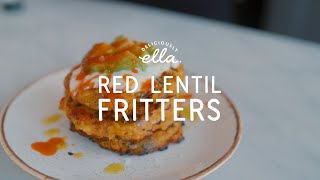 Vegan Red Lentil Fritters | Deliciously Ella