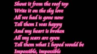 Video Impossible Shontelle lyrics. download MP3, 3GP, MP4, WEBM, AVI, FLV Oktober 2017