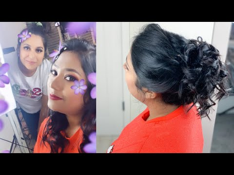 Doing Party Hairstyle on my Sister | Ft. Sajia Farah | Hairstyle on Short/Medium Hair thumbnail