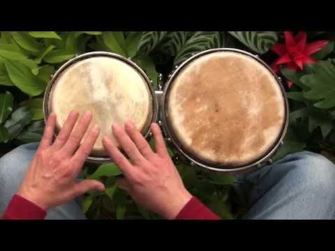 A simple African rhythm for beginners on bongos