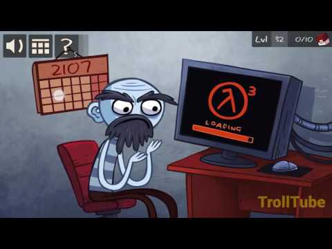 Troll Face Quest Video Games Level 31 32 33 34 35 Solution - 100