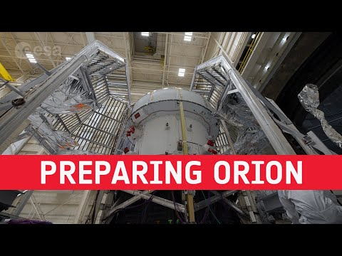 Preparing Orion for thermal vacuum testing