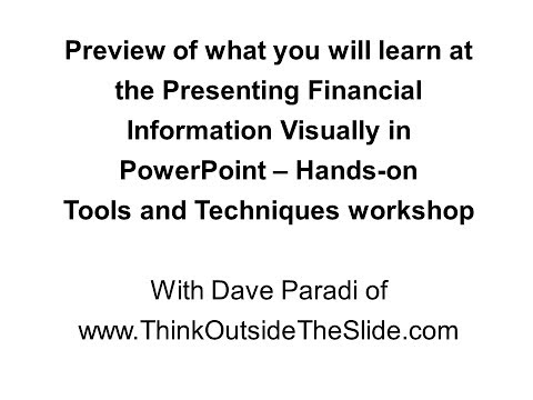 Preview of the Presenting Financial Information Visually in PowerPoint workshops