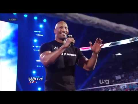 The Rock Promo - WWE Raw 2nd April 2012