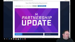 S.O.S.   Mixer's New Partnership Requirements (As Of July 24th 2018)