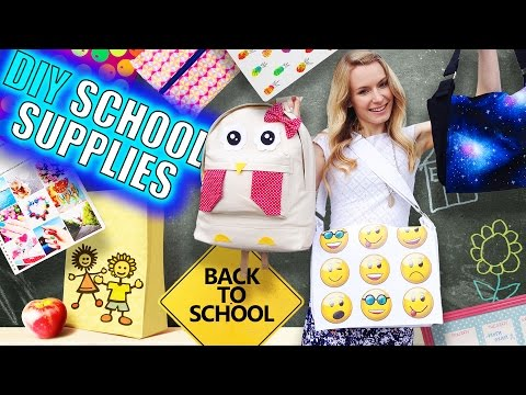 Thumbnail: DIY School Supplies & Room Organization Ideas! 15 Epic DIY Projects for Back to School!