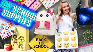 DIY School Supplies & Room Organization Ideas! 15 Epic DIY Projects for Back to School!(DIY School supplies and room organization for back to school! In this DIY video I show 15 DIY school supplies, room organization and room decor DIY projects ..., 2015-09-02T23:59:41.000Z)