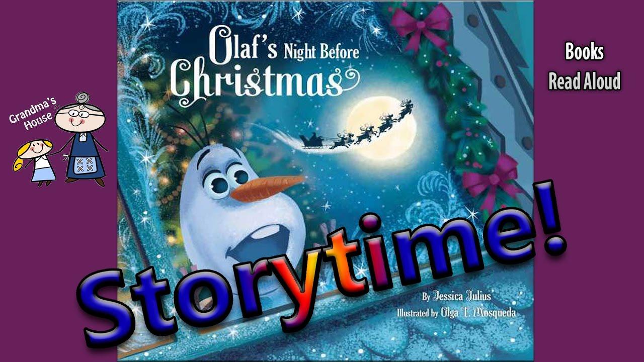 OLAF\'S NIGHT BEFORE CHRISTMAS Read Aloud ~ Christmas Stories ...