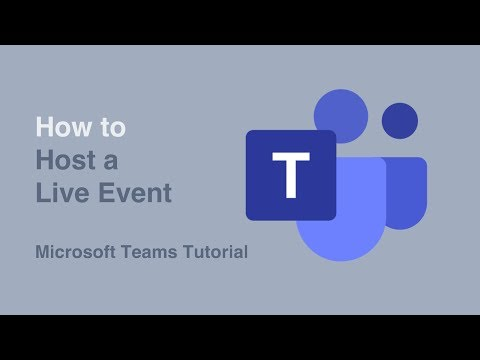 How To Host A Live Event  | Live Events | Microsoft Teams | Tutorial