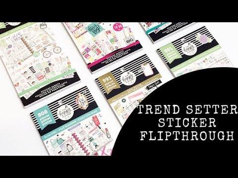 Trendsetter Sticker Book Flipthrough