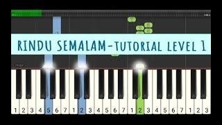 not piano rindu semalam - titi kamal - tutorial level 1 - not angka