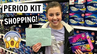 PERIOD KIT SHOPPING VLOG WITH MY MOM | WHAT TO BUY FOR YOUR FIRST PERIOD!