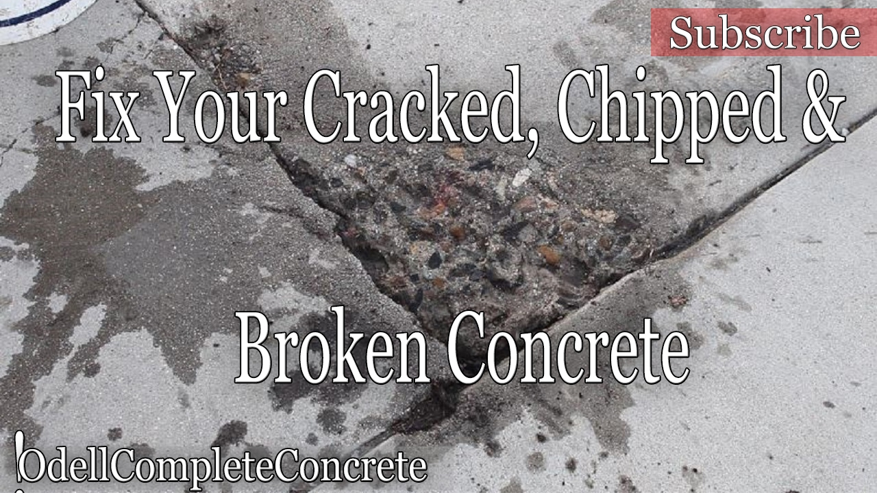 How to fix or repair Chipped Cracked or Broken concrete!