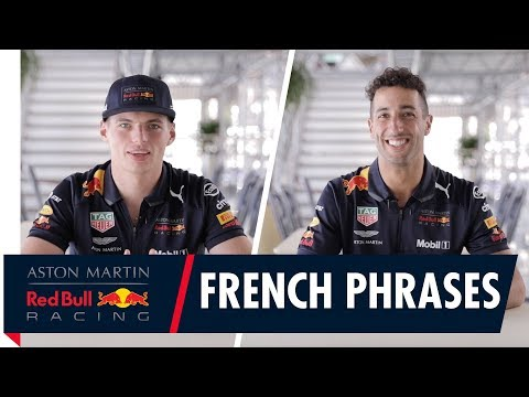 Handy French Phrases with Pierre Gasly, Max Verstappen, Daniel Ricciardo and Brendon Hartley