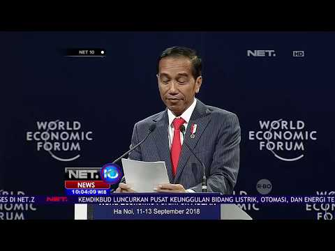 Presiden Jokowi Menghadiri World Economic Forum On ASEAN Di Vietnam - NET 10