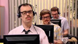 Helpdesk scene from IT Crowd