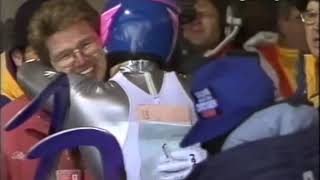 Throwback to the 1992 Olympic Winter Games and Georg Hackl winning gold