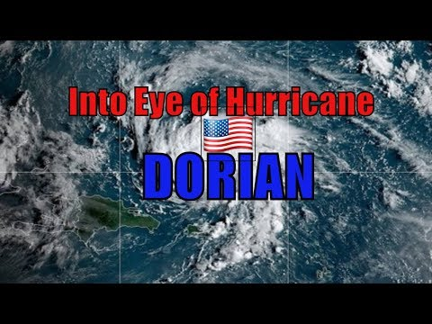 U.S. AIRFORCE C130 Plane Flies Through EYE of Hurricane Dorian to Get DATA (2019)