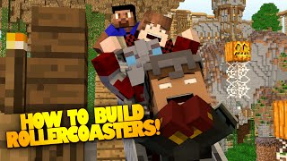 Minecraft ROLLER COASTER Build Challenge! - How to make a Roller coaster in Minecraft!
