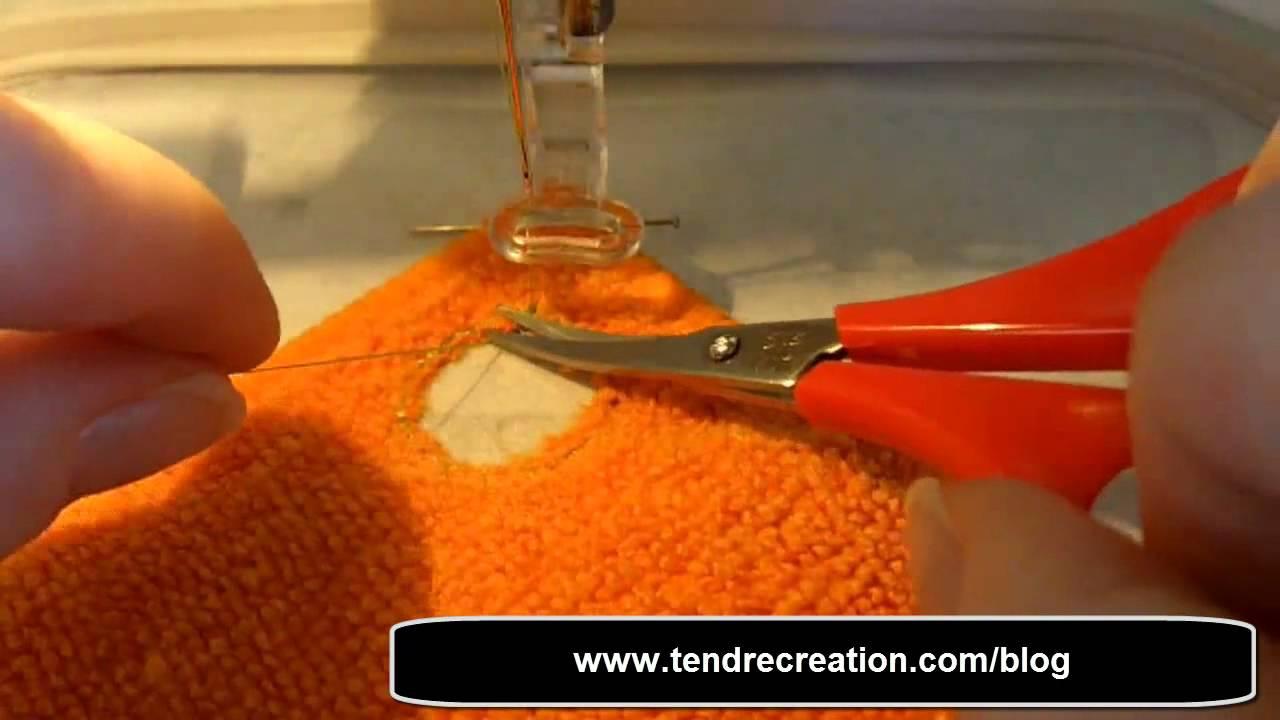 Comment Fabriquer Un Accroche Torchon tuto : réaliser son torchon (broderie machine)