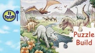 Dinosaur Puzzle Building For Kids