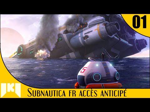 [FR] Subnautica Gameplay Accès Anticipé – ép 1 – Premier crafting et leçon de survie sous-marine
