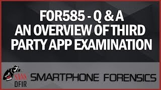 Smartphone Investigations : Questions Answered thumb