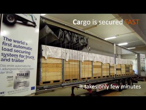 Truck- Safe - Fully automatic and remotely controlled cargo securing system
