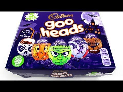 Halloween Cakes , Halloween Candy 2019, New Cadbury Candy  Opening , Cadbury Goo Heads