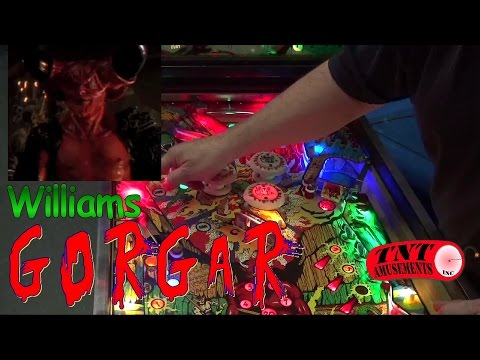 #832 Williams GORGAR Pinball Machine with LED Displays and extra Playfield Lights! TNT Amusements