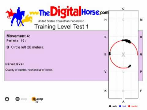 The Digital Horse Dressage Test Example  YouTube