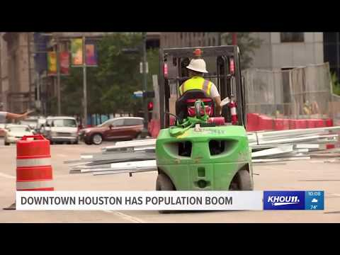 Downtown Houston has population boom