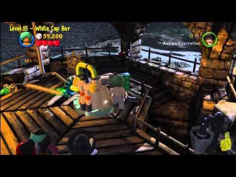 Lego Pirates of the Caribbean: Level 18 White Cap Bay - Story Walkthrough - HTG